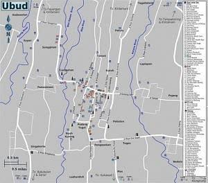 Карта Убуда