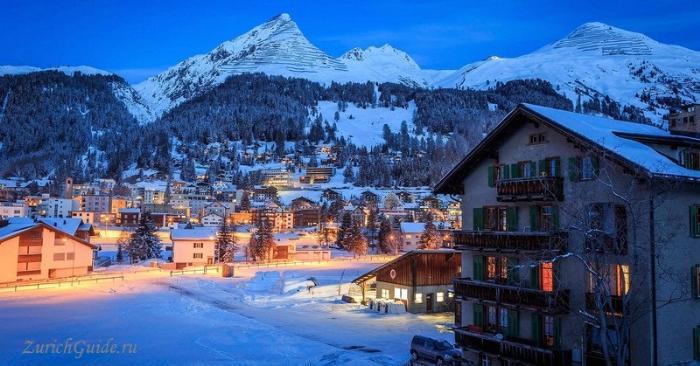 Davos-2 Давос (Davos), Швейцария - путеводитель по городу Давос. Достопримечательности и музеи Давоса, что посмотреть в Давосе, фото. Горнолыжный курорт Давос