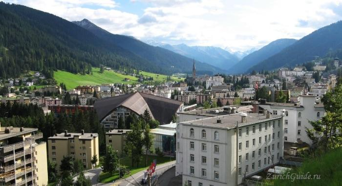 Davos-1 Давос (Davos), Швейцария - путеводитель по городу Давос. Достопримечательности и музеи Давоса, что посмотреть в Давосе, фото. Горнолыжный курорт Давос