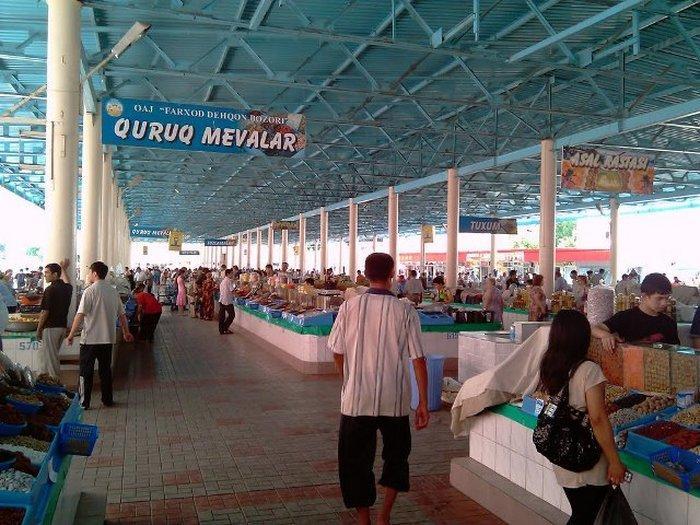 Фархадский рынок в Ташкенте
