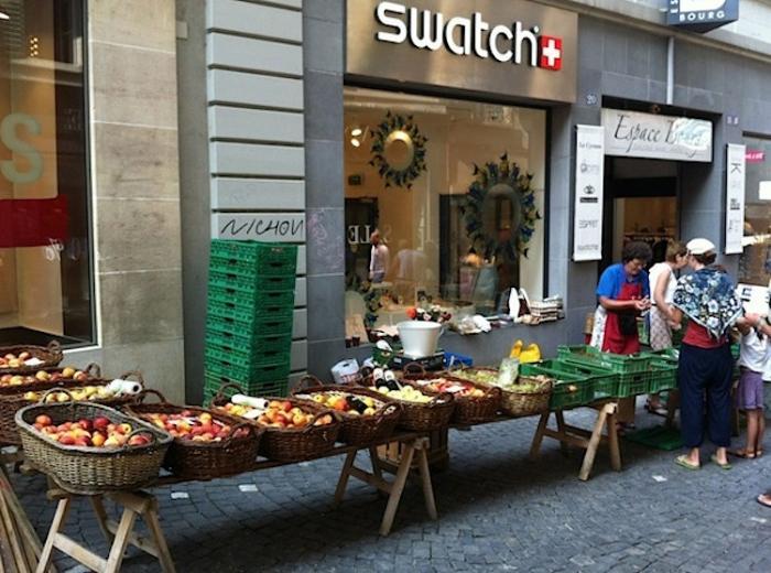 субботний рынок Лозанны, Швейцария