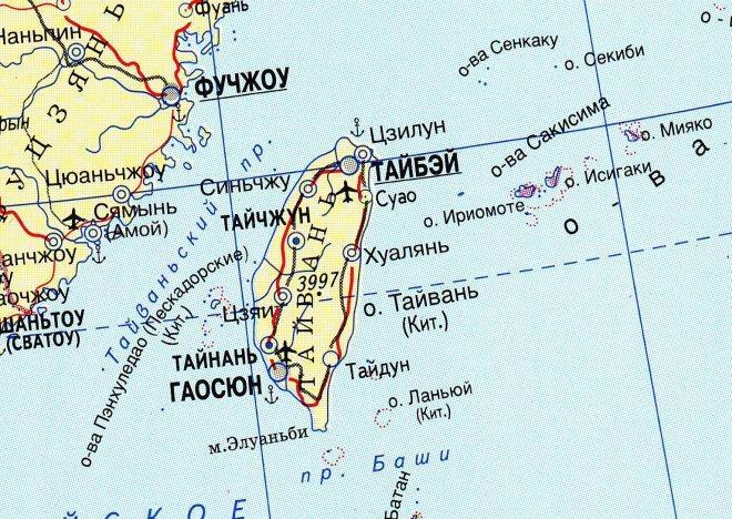 Тайбэй на карте мира