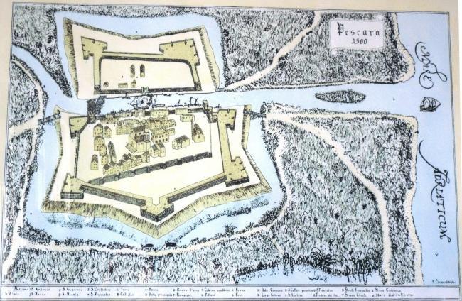 Карта Пескары 1560 года