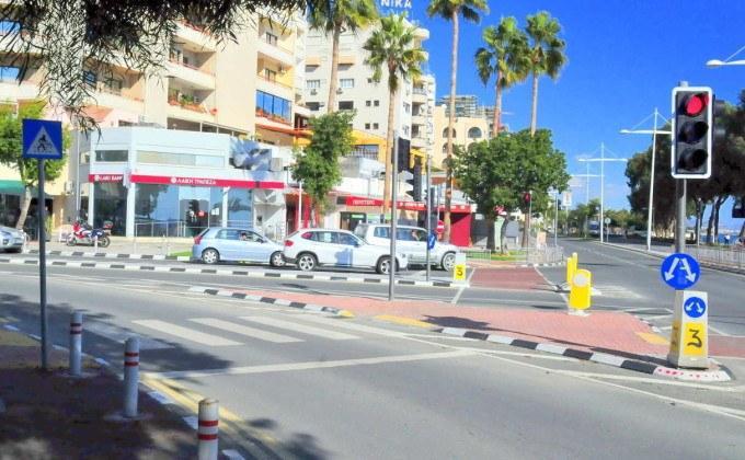 Пересечение улицы Арх. Макариоса III с ул. 28 Октября, центр Лимассола, Кипр