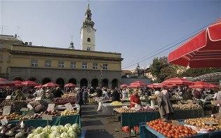 Загреб - рынок «Dolac»
