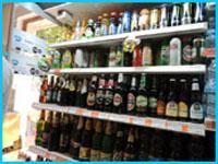 алкогольные напитки в магазине в Болгарии