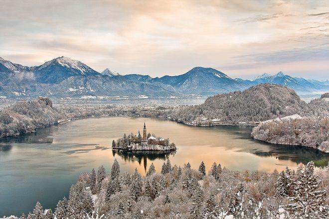 Озеро Блед - зимой
