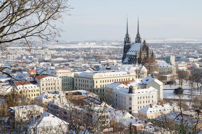 Зима в Брно